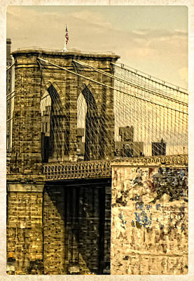 Photograph - Old Brooklyn Bridge II by Frank Winters