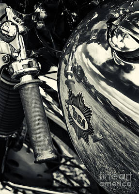Photograph - Old Bsa Cafe Racer by Tim Gainey
