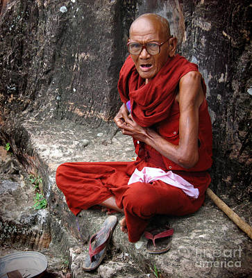 Photograph - Old Buddhist Monk  by RicardMN Photography
