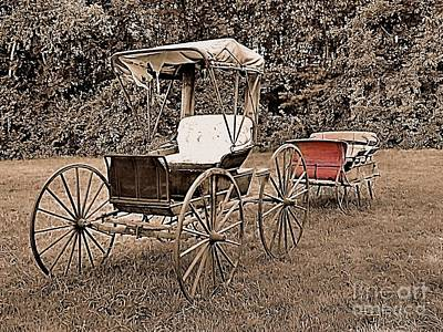 Photograph - Old Buggy And Sleigh by Janice Drew