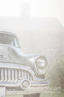 Old Buick Out By The Barn Art Print by Edward Fielding