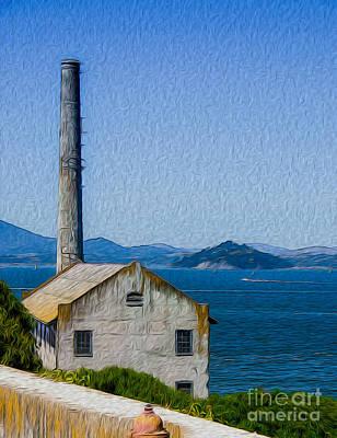 Old Building At Alcatraz Island Prison Art Print