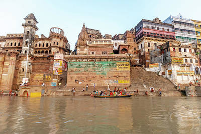 Ganges Photograph - Old Buildings By The Ganges River by Ali Kabas