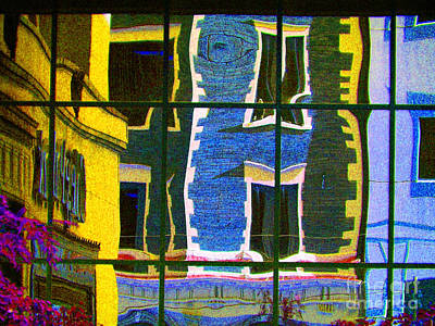 Photograph - Old Buildings On New Windows by Charline Xia