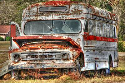 Old Bus 01 Print by Andy Savelle
