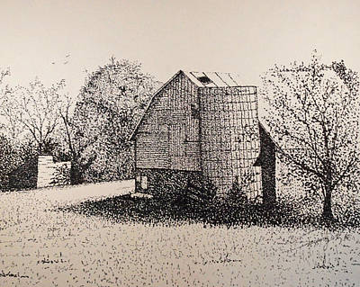 Old Shed Drawing - Old But Beautifull by Saundra Smoker