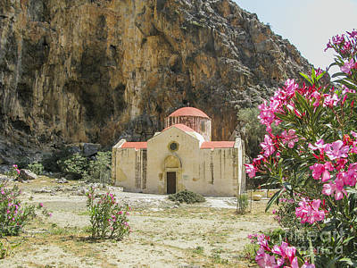 Photograph - Old Byzantine Church In Gorge In Southern Crete by Patricia Hofmeester