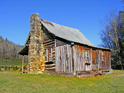 Old Cabin Along Macedonia Church Road Art Print