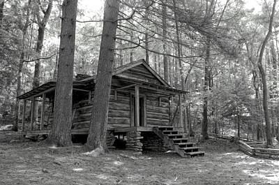 Old Cabin  Art Print by Bob Jackson
