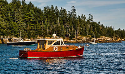 Photograph - New England Vintage Red Cabin Cruiser by Ginger Wakem