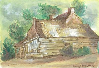 Old Cabins Mixed Media - Old Cabin by George W Brodhead Jr