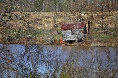 Photograph - Old Cabin On The Lake Shore by Gordon Elwell