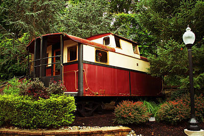 Photograph - Old Caboose by Michael Porchik