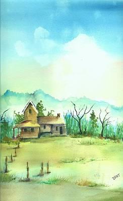 Old California Farm House Original by David Patrick