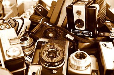 Old Cameras Art Print by Marina Slusar