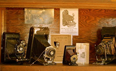 Photograph - Old Cameras by Roseann Errigo