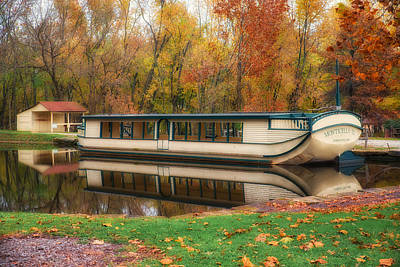 Old Canal Boat Art Print