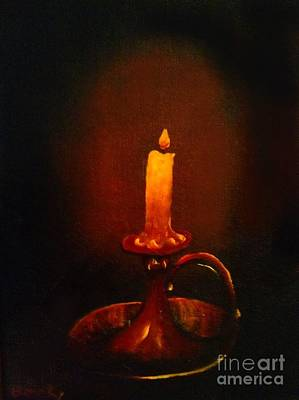 Painting - Old Candle Stick Painting by Becky Lupe