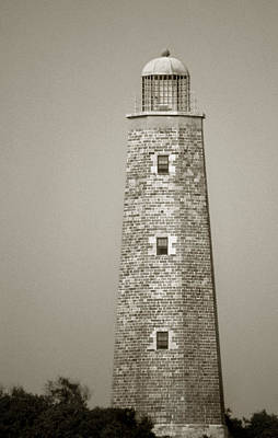 Cape Henry Lighthouse Photograph - Old Cape Henry Lighthouse by Skip Willits