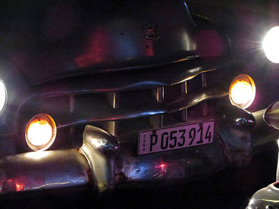 Photograph - Old Car At Night. by Rob Huntley