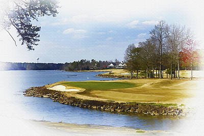 Ernie Els Wall Art - Digital Art - Old Carolina Golf Club by Don Kuing