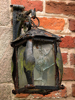 Photograph - Old Carriage Lamp by Susan Leonard