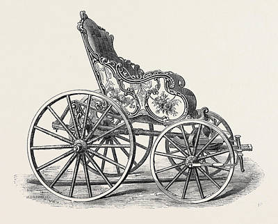 Flemish Drawing - Old Carriage Of French Or Flemish Pattern by English School