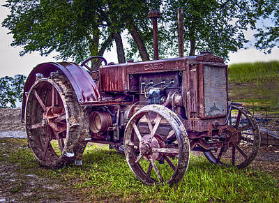 Keck Photograph - Old Case Gas Tractor by F Leblanc