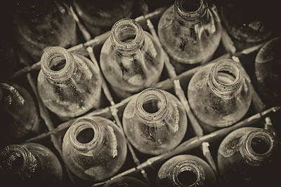 Old Brown Bottle Photograph - Old Case by Karol Livote
