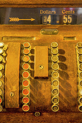 Cash Register Photograph - Old Cash Register Decor At The Historic by Chuck Haney