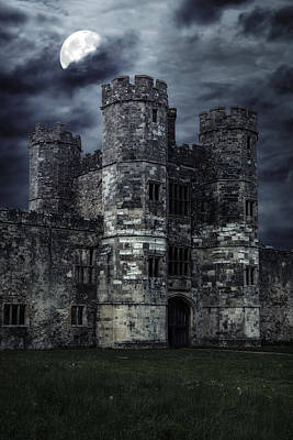 Moonshine Photograph - Old Castle At Night by Joana Kruse