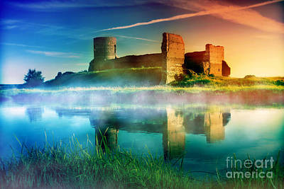 Colored Photograph - Old Castle Ruins At Magical Sunset by Michal Bednarek
