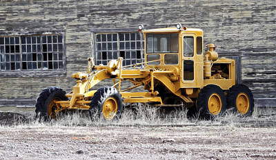 Photograph - Old Cat Road Grader by Steve McKinzie