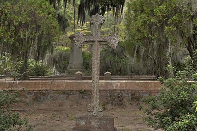 Photograph - Old Cemetery Cross by Bradford Martin