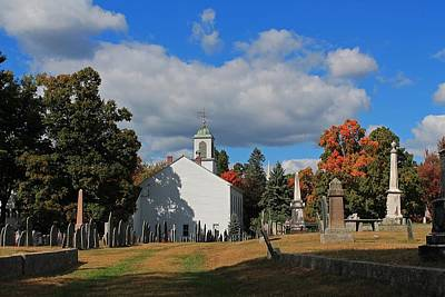 Photograph - Old Cemetery Harvard Ma by Michael Saunders