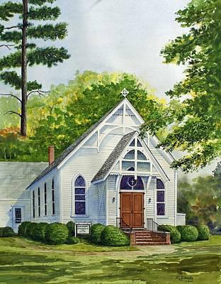 Methodists Painting - Old Centenary Methodist Church by Raymond Edmonds