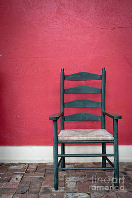Ladder Back Chairs Photograph - Restful Spot Cornish New Hampshire by Edward Fielding