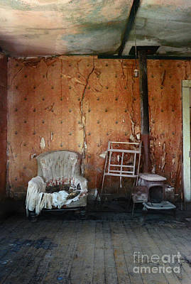 Photograph - Old Chair And Stove In Abandoned House by Jill Battaglia
