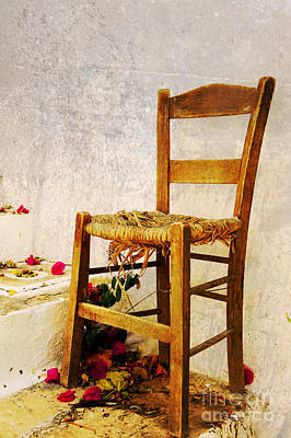 Old Chair Art Print by Christos Dimou