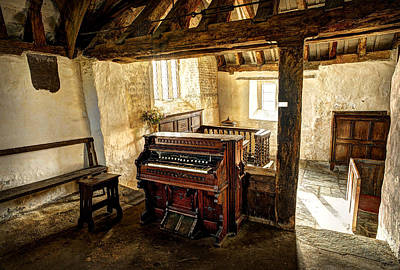 Celynnin Photograph - Old Chapel Organ by Mal Bray