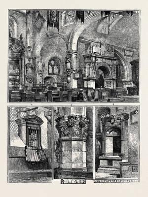 Old Chelsea Church 1. Interior Art Print by English School