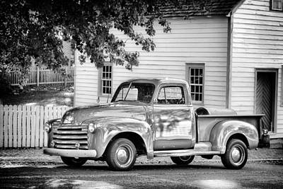 Old Chevrolet Pickup Truck Art Print