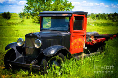 Truck Photograph - Old Chevrolet Truck - Painterly by Les Palenik