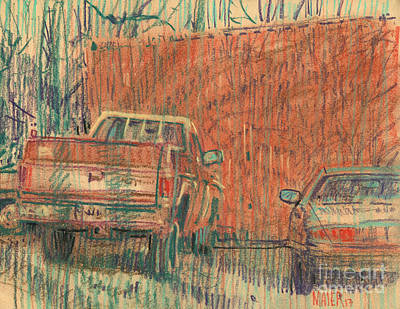 Painting - Old Chevy by Donald Maier