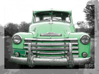 Old Chevy Pickup Truck Print by Edward Fielding