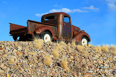 Photograph - Old Chevy Pu by Roena King