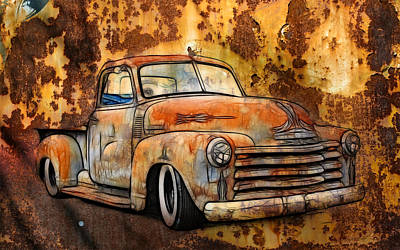 Old Chevy Rust Art Print