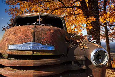 Old Chevy Truck Art Print by Debra and Dave Vanderlaan