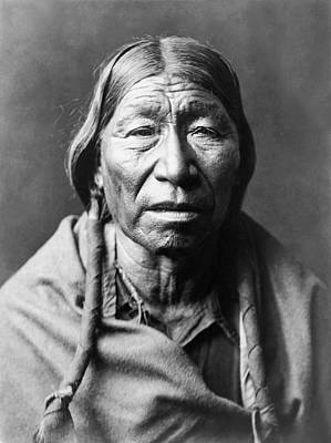 Photograph - Old Cheyenne Man Circa 1910 by Aged Pixel