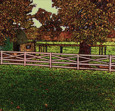 Photograph - Old Chicken Coop On Dwight D. Eisenhower Farm In Draw Form by Amazing Photographs AKA Christian Wilson